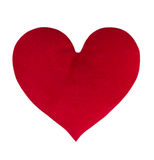 Red heart on white background Royalty Free Stock Photography