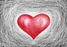 red heart, white background stock illustration