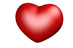 Red heart on a white Royalty Free Stock Photos