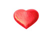 Red heart on a white background Stock Images