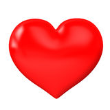 Red heart on a white background Stock Image