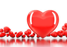 Red Heart on white background Royalty Free Stock Images