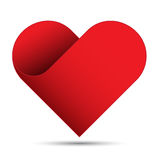 Red heart on white background Stock Images