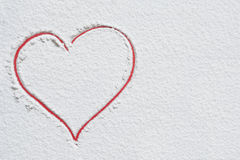 Red heart on white background Royalty Free Stock Image