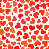 Red heart on a white background seamless pattern Royalty Free Stock Image