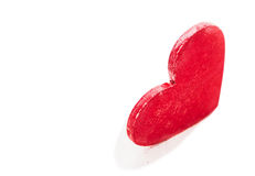 Red heart on white background Stock Image