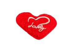 Red heart on white background. Stock Images