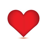 Red heart on white background. Royalty Free Stock Photos