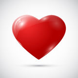 Red heart on white background Stock Photos