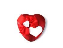 Red heart on white bg Stock Photo