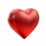 Red heart on white Royalty Free Stock Photo