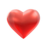 Red heart on white Royalty Free Stock Photography