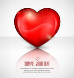 Red heart on white & text Royalty Free Stock Image