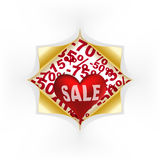 Red heart white text sale Royalty Free Stock Image