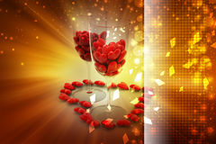 Red heart in wine glass Royalty Free Stock Photography
