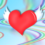 Heart on an abstract background Stock Photos