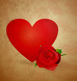 Red heart wintage xtyle valentines day Stock Photo