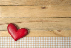 Red heart on a wood Royalty Free Stock Images