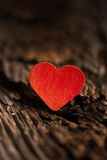 Red Heart on Wood Royalty Free Stock Image