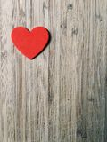 Red heart on wood Royalty Free Stock Photos