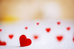 Red heart on the wooden background. Valentines day. Royalty Free Stock Photos