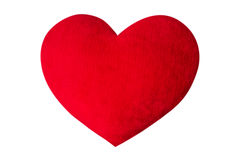 Red heart wool. Isolated on a white background Stock Photo