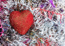 Red heart xmas background Stock Photography