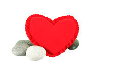 Red Heart And Zen Stones I Stock Images