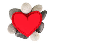 Red Heart And Zen Stones II Stock Photography