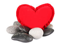 Red Heart And Zen Stones III Royalty Free Stock Images