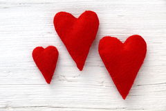 Red hearts Royalty Free Stock Photography