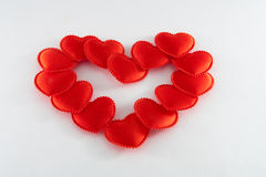 Red hearts. Some red hearts - a background for a love symbol Royalty Free Stock Photo