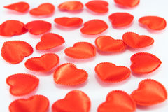 Red hearts. Some red hearts - a background for a love symbol Royalty Free Stock Images
