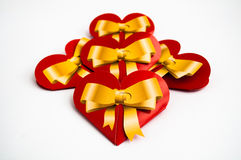 Red hearts. On a white background Stock Image