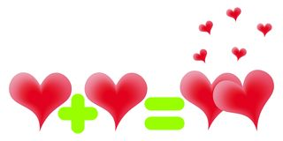 Red hearts. Royalty Free Stock Images