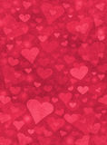 Red Hearts Stock Photography