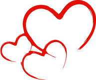 Red hearts Stock Photos