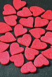 Red Hearts. A lot of red hearts on black background Royalty Free Stock Image