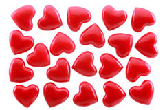 Red hearts. Is isolated on a white background Stock Photos