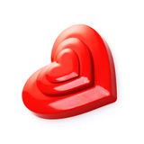 Red hearts. On white background stock photo