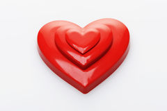 Red hearts. On white background royalty free stock image