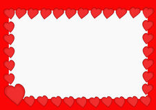 Red hearts. Frame of red hearts illustration Stock Image