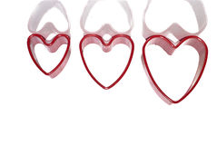 Red hearts. With reflection- love symbol stock illustration