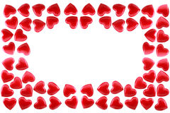 Red hearts. Are isolated on a white background Stock Photos