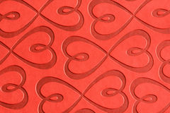 Red Hearts. Red heart abstract from a note book cover Royalty Free Stock Image