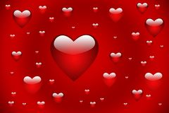 Red hearts royalty free stock image