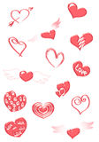 Red hearts Royalty Free Stock Images