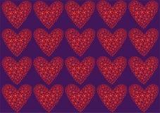 Red hearts vector illustration