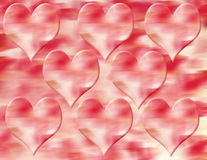 Red Hearts. Background royalty free illustration