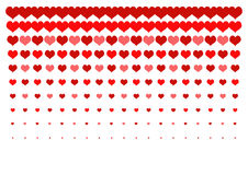 Red hearts. Set of red hearts for decoration Stock Images